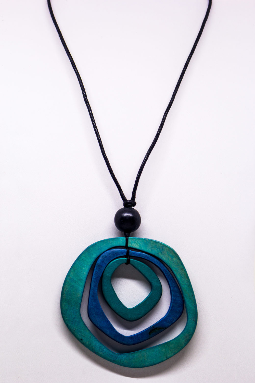 Shades of the Sea Wood Pendant Necklace